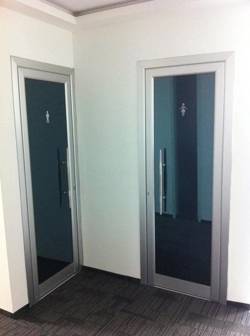aluminyum camlı ofis, büro, kapıları